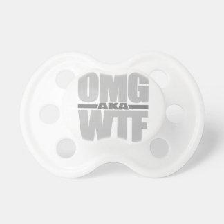 OMG aka WTF custom color pacifier