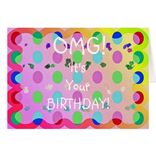 OMG Birthday! Cards