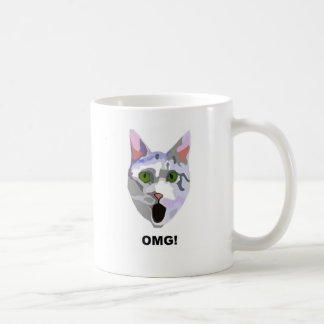 OMG! CAT 'what has he seen?' Coffee Mug
