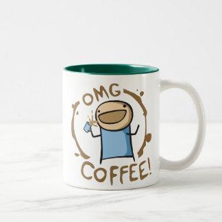OMG Coffee Two-Tone Coffee Mug