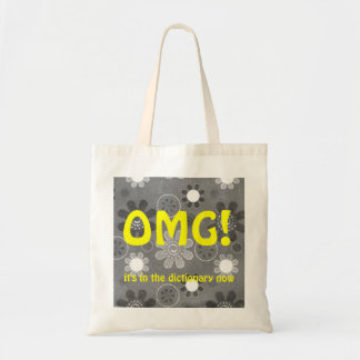 OMG English Texting Tote Bag