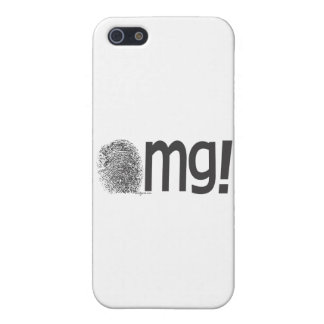 omg fingerprint text iPhone 5/5S cover