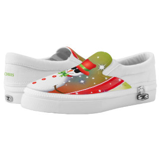 OMG! Funky Snowman Christmas2 Slip-On Shoes
