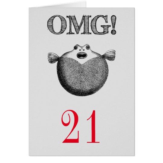 OMG Funny 21st Birthday Card