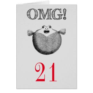 OMG Funny 21st Birthday Greeting Card