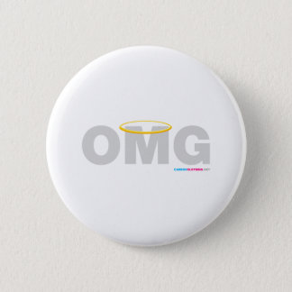 OMG Halo 6 Cm Round Badge