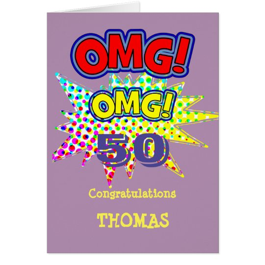 OMG! How Old Funny Comic Milestone Birthday Card