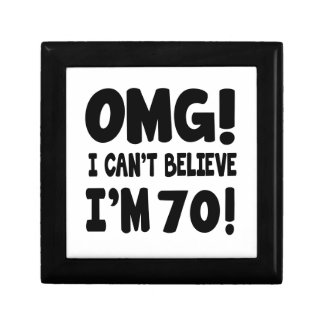 OMG! I Can't Believe I'm 70 Small Square Gift Box