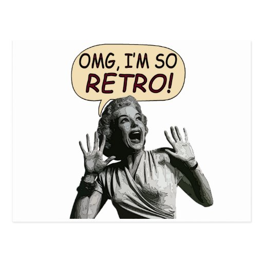 OMG, I'm So RETRO! Postcards
