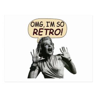 OMG, I'm So RETRO! Post Cards