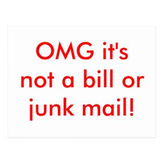 OMG it's not a bill or junk mail! Postcard