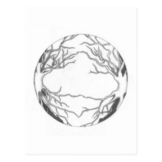 OMG! It's Trees in a Circle...Awesome Postcard