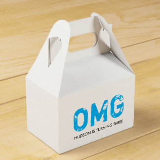 OMG It's Your Birthday Gable Favor Box - Blue