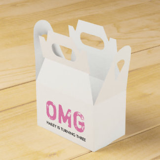 OMG It's Your Birthday Gable Favor Box - Pink