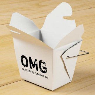 OMG It's Your Birthday Takeout Box - Black