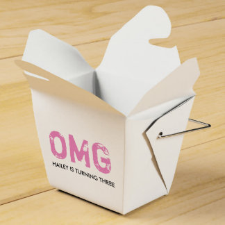 OMG It's Your Birthday Takeout Box - Pink