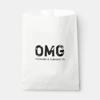 OMG It's Your Birthday Treat Favor Bag - Black