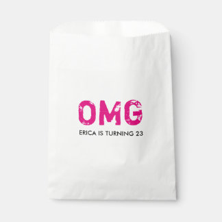 OMG It's Your Birthday Treat Favor Bag - Hot Pink