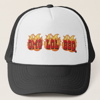 OMG LOL BBQ TRUCKER HAT