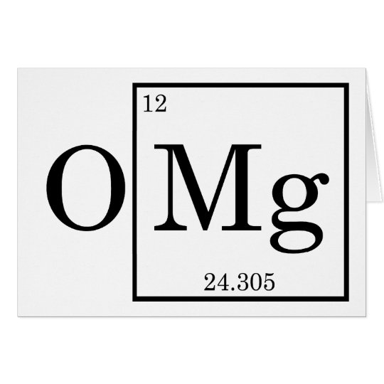 Omg magnesium mg periodic table card zazzle omg magnesium mg periodic table card urtaz Choice Image