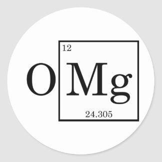 OMG - Magnesium - Mg - periodic table Classic Round Sticker