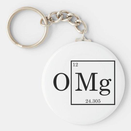 OMG Magnesium Science Chemistry Basic Round Button Key