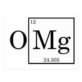 OMG Magnesium Science Chemistry Postcard
