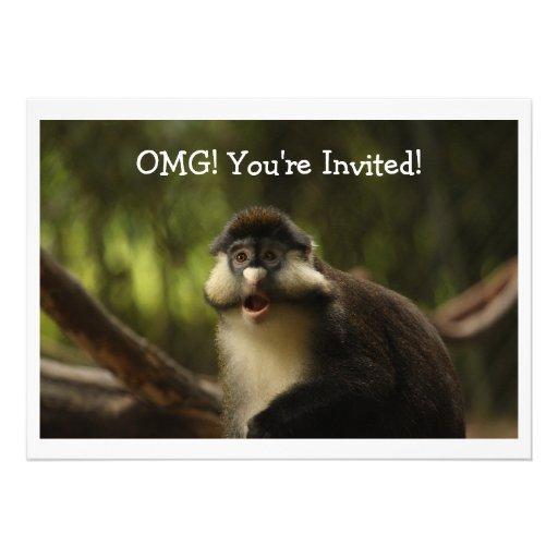 OMG Monkey Invitation