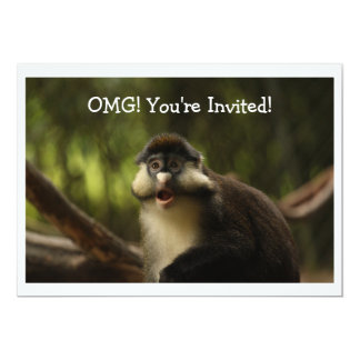 OMG Monkey Invitation