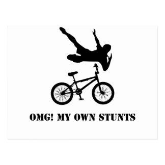 OMG! My Own Stunts Postcard