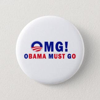 OMG! Obama Must Go! 6 Cm Round Badge