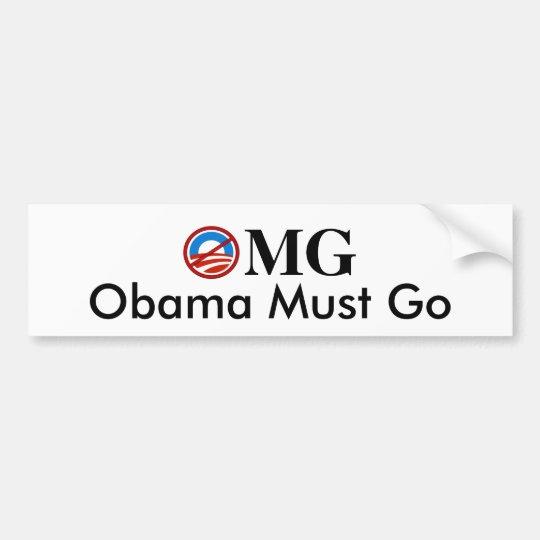 OMG-Obama Must Go Bumper Sticker