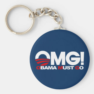 OMG! Obama Must Go Key Ring