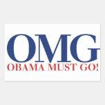 OMG Obama Must GO Stickers