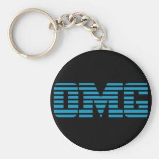 OMG Oh My God Parody Logo Basic Round Button Key Ring