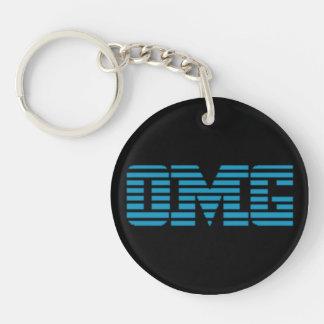 OMG Oh My God Parody Logo Single-Sided Round Acrylic Key Ring