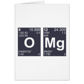 OMG Oh My God Periodic Table Elements Greeting Card