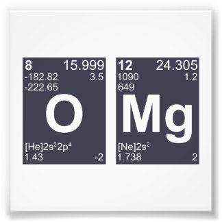 OMG Oh My God Periodic Table Elements Photograph
