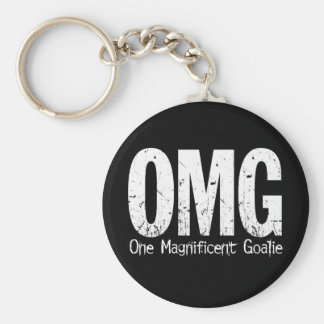 OMG: One Magnificent Goalie Basic Round Button Key Ring