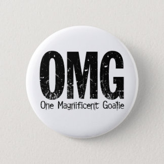 OMG: One Magnificent Goalie (Hockey) 6 Cm Round Badge