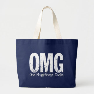 OMG: One Magnificent Goalie (Hockey) Large Tote Bag