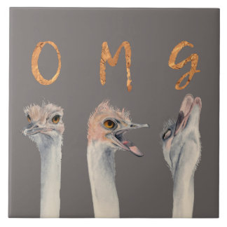 OMG Ostriches Tile
