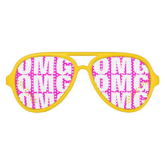 OMG party shades   crazy neon Aviator glasses