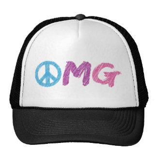 omg peace sign cap