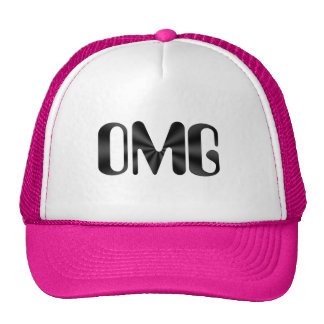 OMG Pink and White Hat