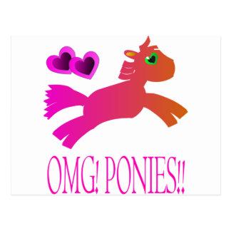 OMG! PONIES!! POSTCARD