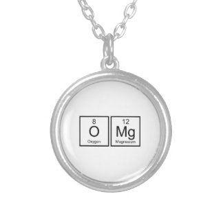 OMG ROUND PENDANT NECKLACE