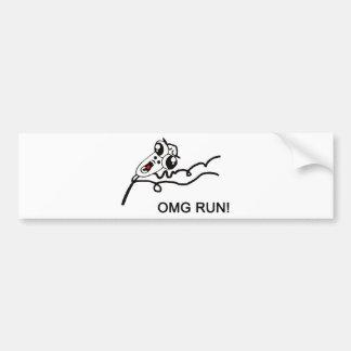 OMG run - meme Bumper Stickers