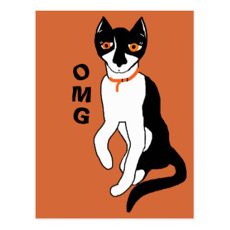OMG says Nos CC0853 cat personality Postcard