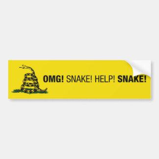 OMG! Snake! Bumper Sticker